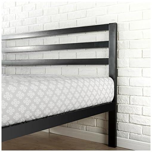 Bedroom Zinus Modern Studio 14 Inch Platform 3000H Metal Bed Frame/Mattress Foundation/Wooden Slat Support/with Headboard, Queen modern beds and bed frames