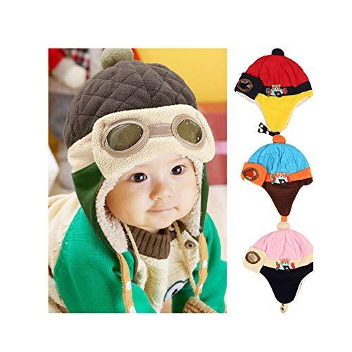 ❤️ Mealeaf ❤️ Toddler Hat Baby Boys Girls Infant Newborn Sun Protection Cotton Knit Winter Warm Kids Baseball Cap ()