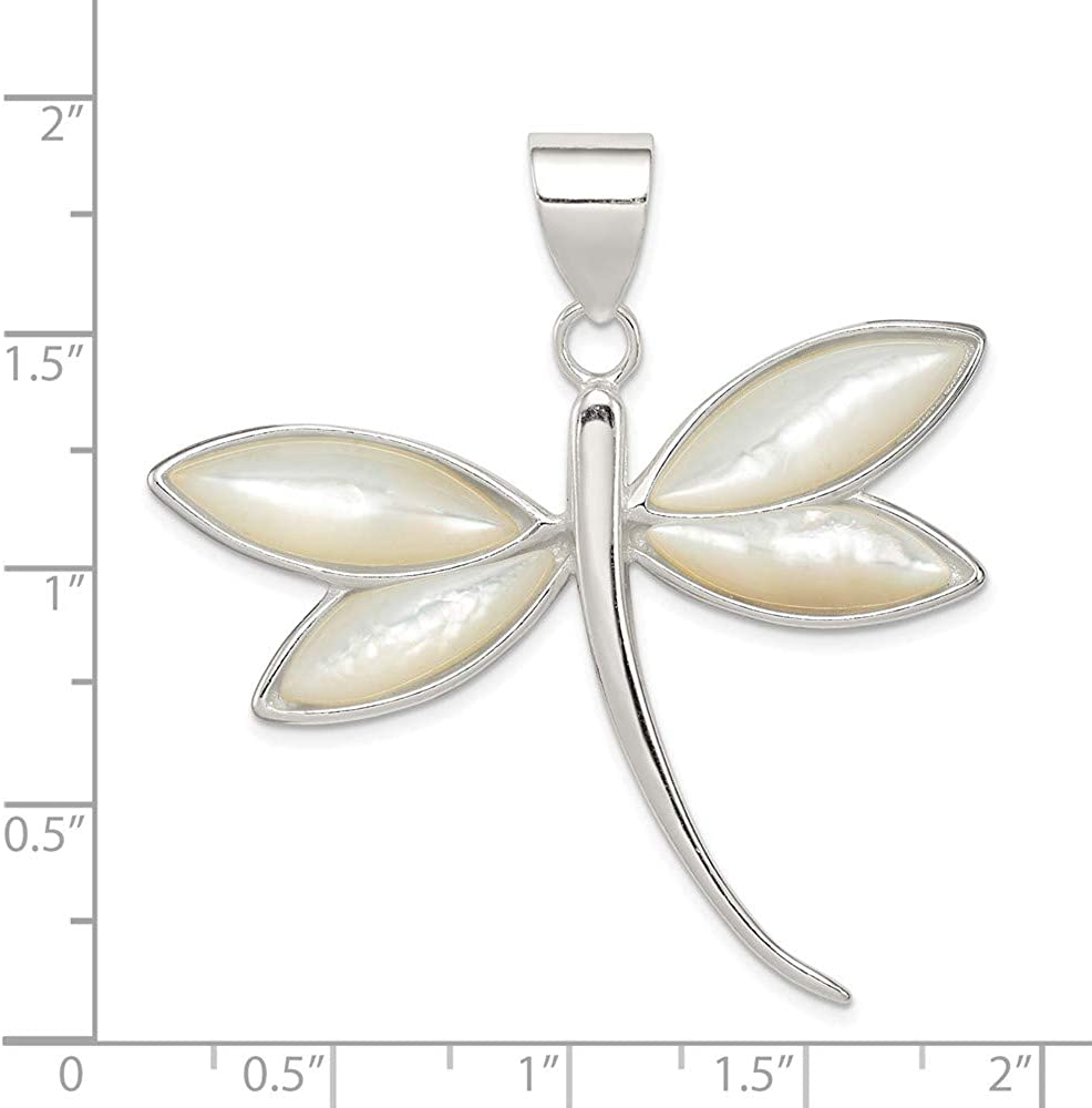 Sterling Silver Jewelry Pendants /& Charms Solid Dragonfly Pendant