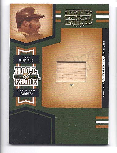 - DAVE WINFIELD 2005 Donruss Prime Patches Hall of Fame Materials #7 GAME USED BAT Card #050 of only 150 Made! San Diego Padres Baseball