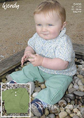 Wendy Baby Cardigan & Sweater Supreme Knitting Pattern 5468 DK