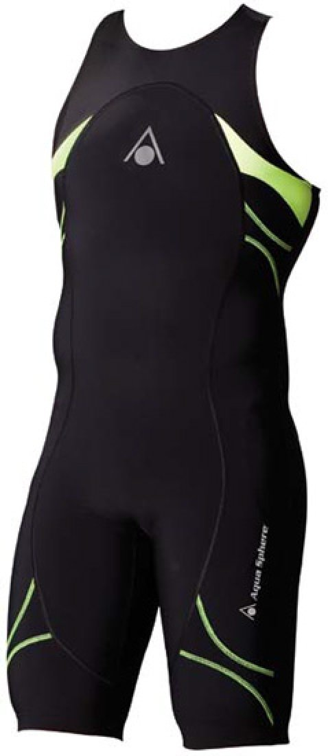 Aqua Sphere Energize Triathlon Speedsuit Male Black/Light Green 34 by Aqua Sphere