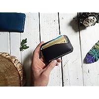 Tarjetero curvo color negro 100% piel billetera cartera