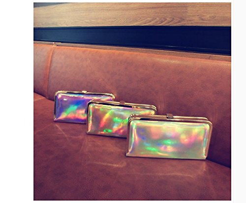 Shoulder PU Laser Single Ladies Women Evening gold Drasawee Clutch Bag Handbag Dinner n8wCfg7Eqx