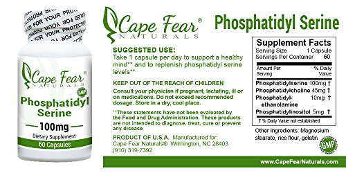 Cape Fear Naturals Phosphatidyl Serine, 100mg each, 60 Capsules by Cape Fear Naturals (Image #2)