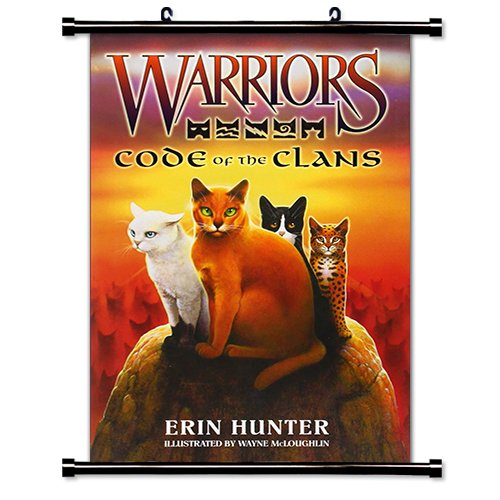 Warriors: Code of the Clans Erin Hunter Fabric Wall Scroll Poster Bk