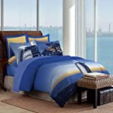 Bombay Dyeing Around The World 100%Cotton Double Bedsheet With 2 Pillow Covers-Blue