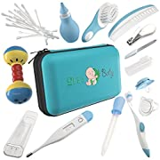 32 Pieces Baby Grooming Kit - 100% Safe Health Care Pack | Made from High-Grade Stainless Steel & BPA-Free Plastic | Nursery Essential Set for Babies | Unisex | Includes Infant Comb , Nail Clipper