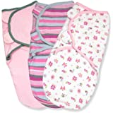 Summer Infant Swaddleme 3 Piece Adjustable Infant Wrap, 7-14 Lbs, Small-Medium, Girly Bug, (Discontinued by Manufacturer)