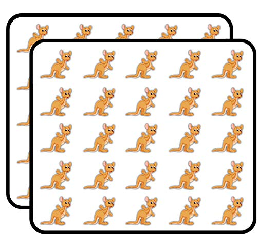 Cute Kangaroo Cartoon Sticker for Scrapbooking, Calendars, Arts, Kids DIY Crafts, Album, Bullet Journals 50 -