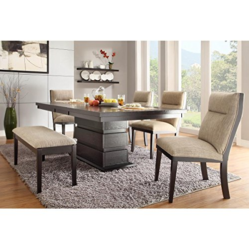 Trieste 5 Piece 60-78 inch Dining Table Set in Dark Espresso - Table, 4 Chairs