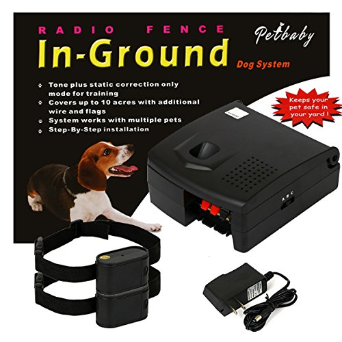 Underground Pet Containment System Extra Thick 22 Gauge Wire 500 Ft & Built-in Fuse Lightning Protection - 100% Safe & Secure - Quick Installation in-Ground Electric Pet Fence - 2 Dogs System