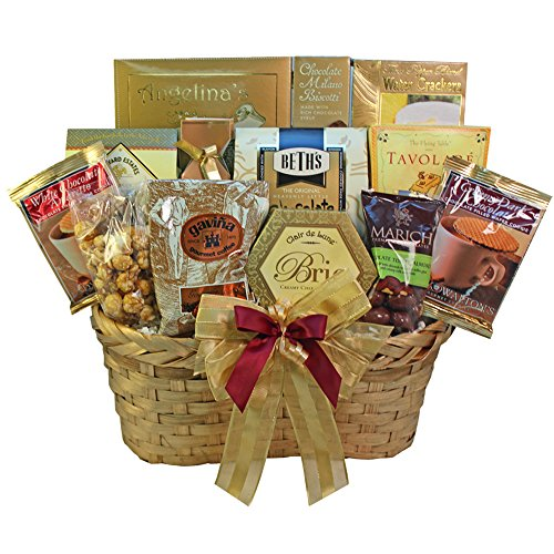 Art of Appreciation Gift Baskets Golden Splendor Gourmet Food Gift Basket (Chocolate)