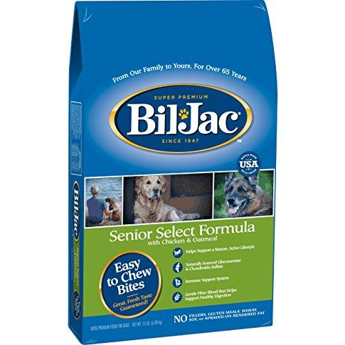 Bil-Jac 319071 Senior Dry Food For Dogs, 15-Pound