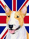 Caroline's Treasures SS4938CHF Bull Terrier with English Union Jack British Canvas House Flag, Large, Multicolor