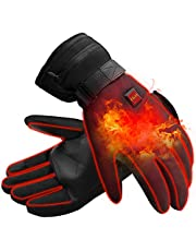 Electric Heated Gloves Rechargeable Battery Camping Hand Warmers Ideal Men's Skiing Gloves Women Men's Cold Weather Gloves Riding Gloves for Outside Working/Fishing/Hiking