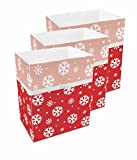 Clean Cubes 13 Gallon Disposable Trash Cans & Recycling Bins, 3 Pack (Snowflake)