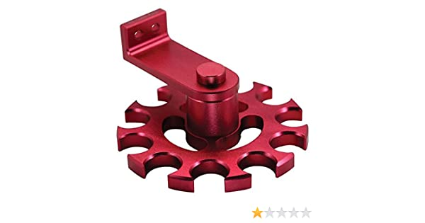 OTMT ARCR8R R8 Rotating Aluminum Collet Rack-Red
