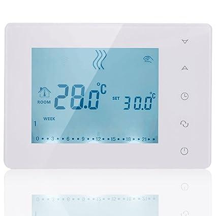 Pantalla táctil inalámbrica con termostato programable beok bot-x306 con receptor para sistema de calefacción