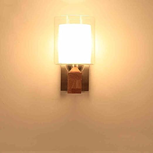 LightSeiEU Thai ancient Nordic wood wood bedside lamp glass wall ...
