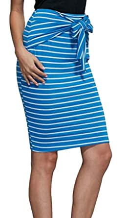 BingSai Falda de lápiz elastizada para Mujer, Cintura Alta ...
