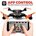 Foldable Drones with Camera for Adults or Kids - F111WF WiFi FPV Remote Control Quadcopter Drone for Beginners, Folding RC Drone Helicopter Toy Gifts