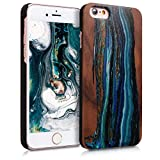 kwmobile Apple iPhone 6 / 6S Wood Case - Non-Slip Natural Solid Hard Wooden Protective Cover for Apple iPhone 6 / 6S
