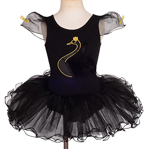 For Kids Black Swan Costumes (Dressy Daisy Girls' Swan Ballet Tutus Dance Costume Fancy Party Dress Size 2-3T)