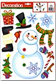 CHRISTMAS WINTER DRESS YOUR OWN SNOWMAN WINDOW CLING. LARGE, Visible from Both Sides, Reusable and Great Value