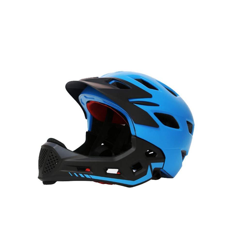 JL-Q Kinderfahrrad-Fahr Helm Kinder-Rutsch-Balance Auto Speed Skating Berg Full Face Helm Abnehmbar Geeignet Für Kinderkopf Umfang (50-57Cm),B