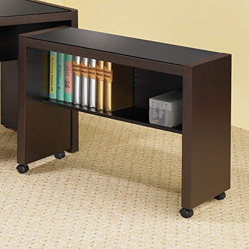 - Coaster Home Furnishings Skylar Mobile Return with Casters Cappuccino