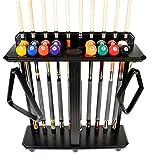 Cue Rack Only - 10 Pool - Billiard Stick & Ball Set Floor - Stand Choose Mahogany, Black Or Oak Finish