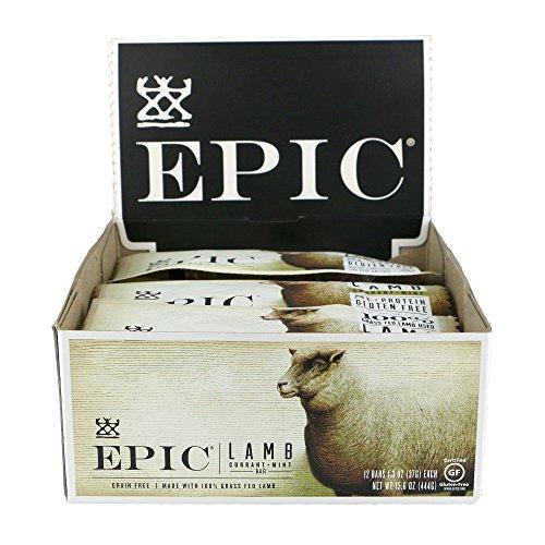 (Epic All Natural Meat Bar, 100% Natural, Lamb, Currant & Mint, 1.3 oz. (12 Count))