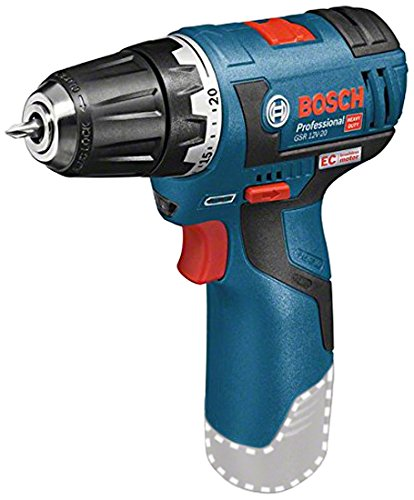 Bosch Professional GSR 12V-20 Cordless Drill Driver (Without Battery and Charger) - Carton 06019D4002