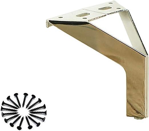 Color : Black Color, Size : 100mm WaiMin Sof/á accesorios accesorios sof/á esquina mueble pie mesa de caf/é patas patas hardware patas patas muebles patas patas met/álicas patas de soporte patas