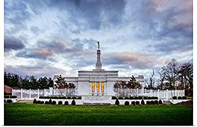 greatBIGcanvas Poster Print entitled Louisville Kentucky Temple, Sunset Clouds, Crestwood, Kentucky by Scott Jarvie