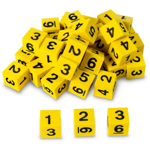 Nasco TB18747T Number Dice Set, 5/8
