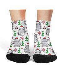 Women's Rottweiler Dog Floral Funny compression novelty socks bike crew socks