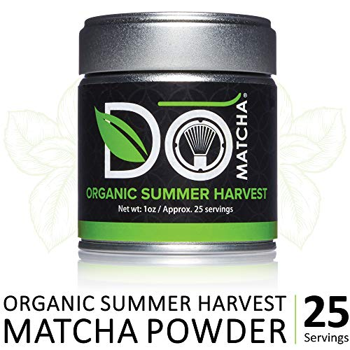 DoMatcha - Organic Summer Harvest Green Tea Matcha Powder, Natural Source of Antioxidants, Caffeine, and L-Theanine, Promotes Focus and Relaxation, 25 Servings (1 oz)