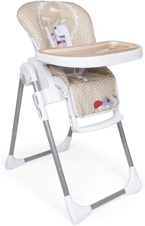 Trona Nature Plegable para bebés de 6 a 36 meses - Ultraligera - Regulable en 6 alturas