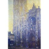'Rouen Cathedral, Morning Effect,1893-1894 By Claude Monet' oil painting, 18x27 inch / 46x68 cm ,printed on high quality polyster Canvas ,this Replica Art DecorativePrints on Canvas is perfectly suitalbe for Powder Room decoration and Home decor and Gifts