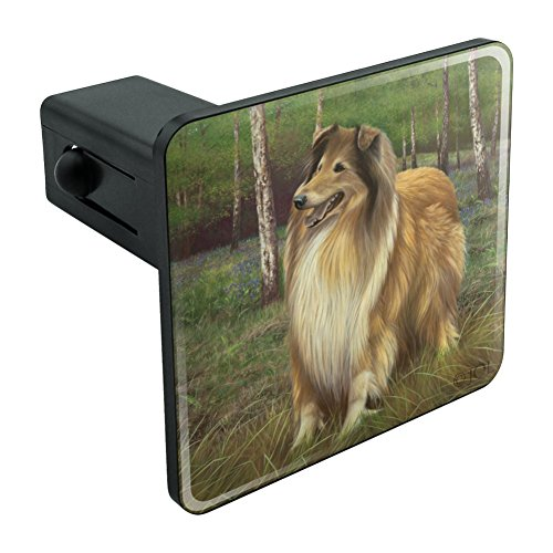 Graphics and More Collie Dog in the Woods Tow Trailer Hitch Cover Plug Insert 1 1/4 inch (1.25