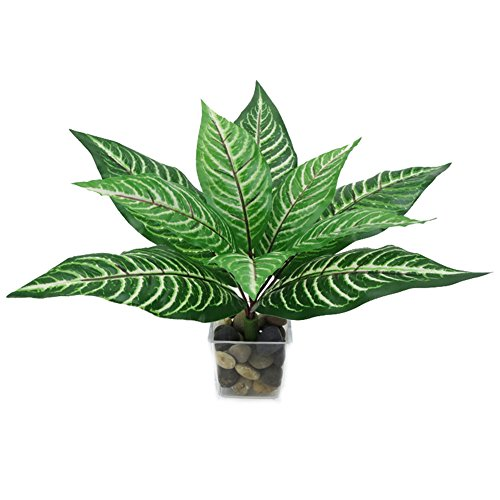 Crt Gucy 2pcs Artificial Plants Tropical Peacock Leaves Wall Planter For DIY Floral Arrangment Home Office Party Hotel Wedding Mini Pot Outdoor (Leaf Wall Planter)