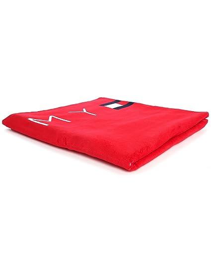 Tommy Hilfiger Logo toalla de playa (rojo – Apple rojo)