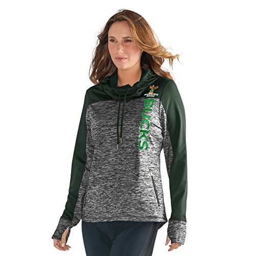 GIII For Her NBA Milwaukee Bucks Women's Sideline Pullover Hoody, X-Large, Heather Grey by GIII For Her