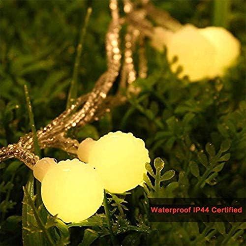 Romantisch Hada Lights10m / 20m / 30m LED BALL cadena luces de Navidad Hada Garland impermeable al aire libre for la celebración de días festivos jardín Decoración del hogar de la lámpara Weihnachtsde