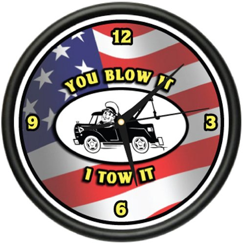 Amazon.com: TOWING Wall Clock tow truck driver company service gift: Home & Kitchen