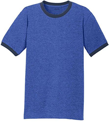 Joe's USA(tm) - Soft 5.4-Oz 100% Cotton Ringer T-Shirts-Royal/Navy-XL (Navy Classic Ringer T-shirt)
