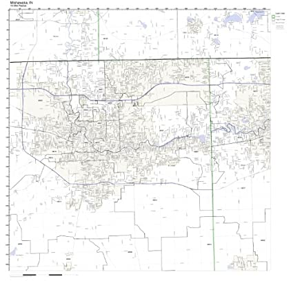Mishawaka Zip Code Map.Amazon Com Mishawaka In Zip Code Map Laminated Home Kitchen