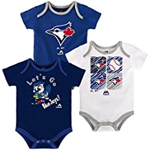 Toronto Blue Jays Newborn Go Team 3-Piece Creeper Set